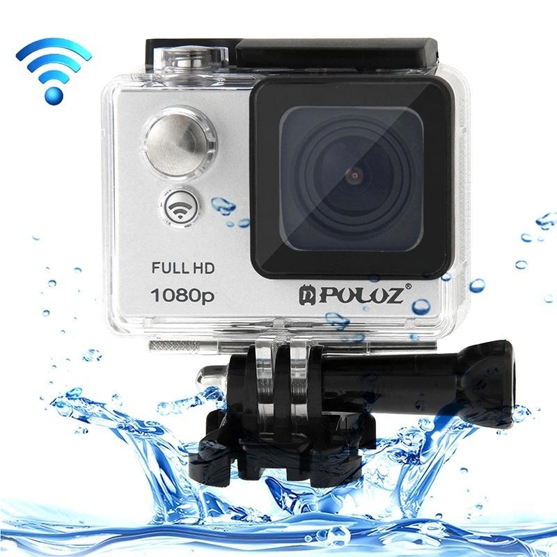 PULUZ U6000 Full HD 1080P 2.0 inch LCD scherm Multi-functie Waterdicht WiFi Sport actie Camcorder, Novatek NT96650 Chipset, 175 graden groothoek Lens(grijs)