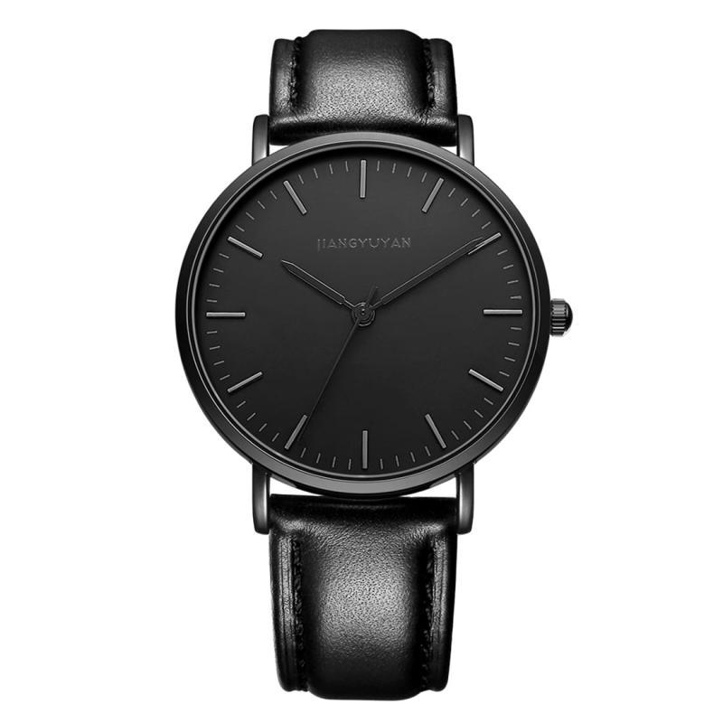 Afbeelding van 1469 JIAYUYAN Quartz Wrist Watch with Leather Band Watch Couple Watch For Women (Black)