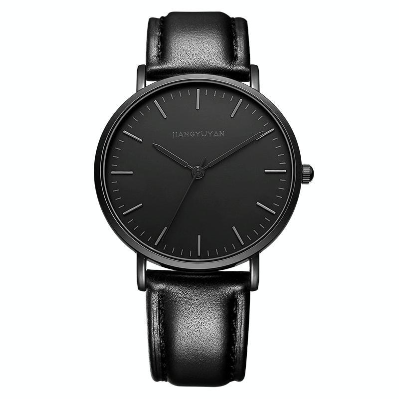Afbeelding van 1469 JIAYUYAN Quartz Wrist Watch with PU Leather Band Watch Couple Watch For Man (Black)
