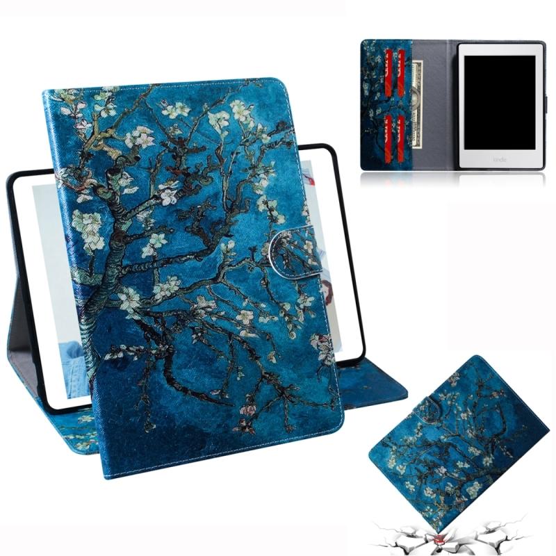 Afbeelding van Abrikoos bloesem patroon horizontale Flip lederen case voor Amazon Kindle Paperwhite 4 (2018)/3/2/1 met houder & Card slot & portemonnee