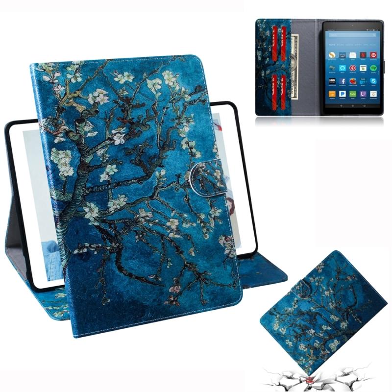 Afbeelding van Abrikoos bloesem patroon horizontale Flip lederen case voor Amazon Kindle Fire HD 8 2015/2016/2017/2018 met houder & Card slot & portemonnee
