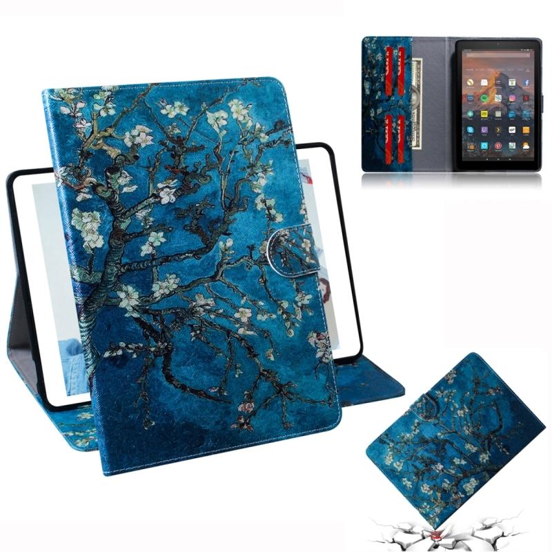 Afbeelding van Abrikoos bloesem patroon horizontale Flip lederen case voor Amazon Kindle Fire HD 10 2015/2017 met houder & Card slot & portemonnee
