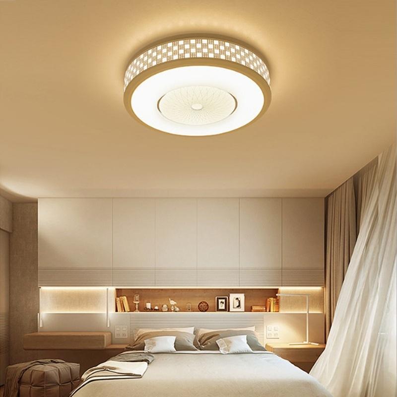 Afbeelding van De moderne minimalistische 24W ronde woonkamer Lamp eetkamer slaapkamer hoogtepunt Chip wit licht LED plafondlamp Diameter: 42cm