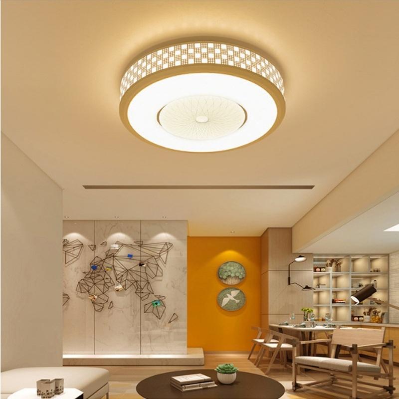 Afbeelding van De moderne minimalistische 36W ronde woonkamer Lamp eetkamer slaapkamer hoogtepunt Chip wit licht LED plafondlamp Diameter: 52cm