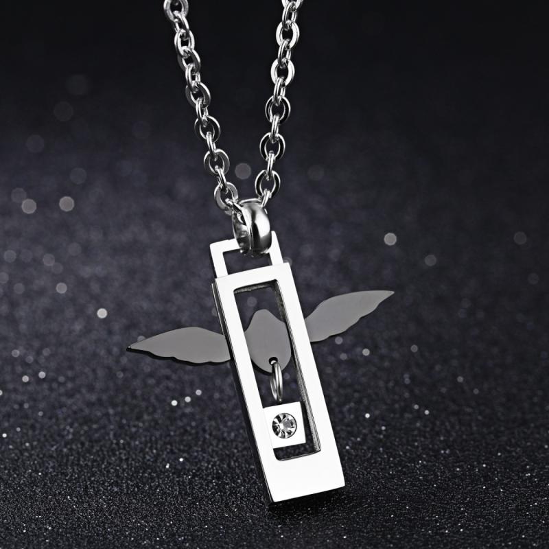 Afbeelding van OPK Fashion Angel liefde paar Titanium stalen ketting hanger zonder ketting (mannen)