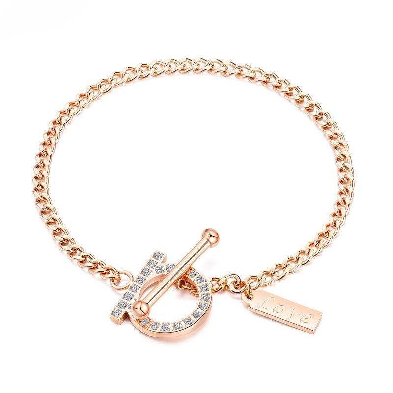 Afbeelding van OPK mode wilde Titanium staal OT gesp ingelegde armband voor vrouwen (Rose goud)